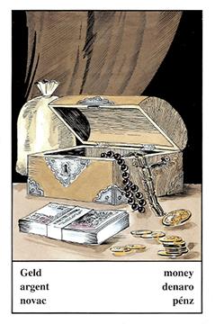 """Motiv der Zigeunerkarte """"Geld"""""""