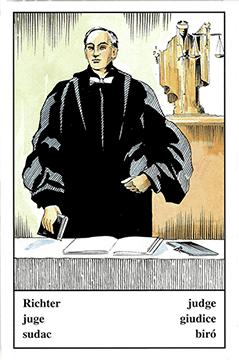 """Motiv der Zigeunerkarte """"Richter"""""""