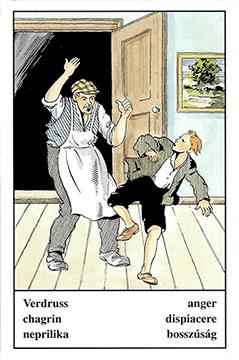 """Motiv der Zigeunerkarte """"Verdruss"""""""